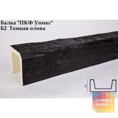 Полиуретановые балки Б2 Тёмная олива (120*120) классика Уникс