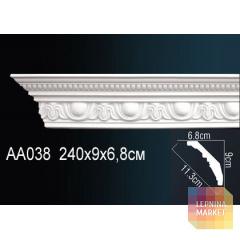 Гибкий потолочный плинтус Перфект AA038F