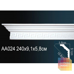 Гибкий потолочный плинтус Перфект AA024F