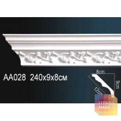 Гибкий потолочный плинтус Перфект AA028F