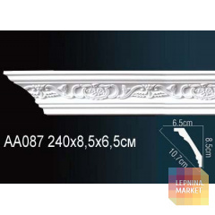 Гибкий потолочный плинтус Перфект AA087F