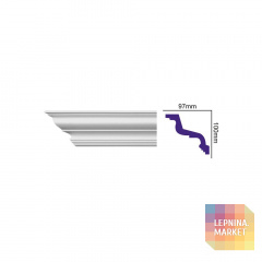 K 216 (2,00 м) (U) Карниз с гладким профилем