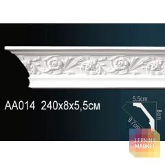 Гибкий потолочный плинтус Перфект AA014F