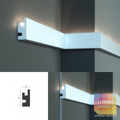 Tesori KD 301 - настенный молдинг для LED подсветки