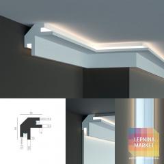 Tesori KD 203 - встраиваемый угловой потолочный карниз для подсветки