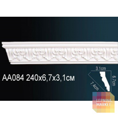 Гибкий потолочный плинтус Перфект AA084F