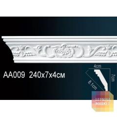 Гибкий потолочный плинтус Перфект AA009F
