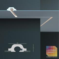 Tesori KD 119 - встраиваемый потолочный молдинг для подсветки