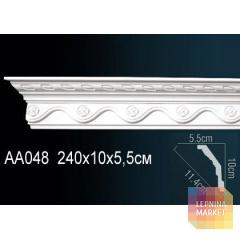 Гибкий потолочный плинтус Перфект AA048F
