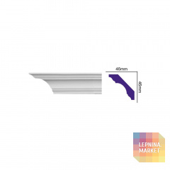 K 212 (2,00 м) (U) Карниз с гладким профилем