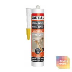 Монтажный клей для лепного декора Soudal Montage Fix, туба 280 мл