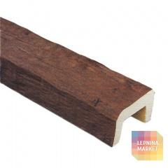 Декоративная балка Рустик (дуб темный) 200*130*3000