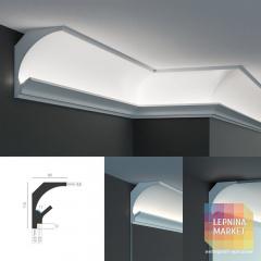 Tesori KD 201 - угловой потолочный карниз для подсветки