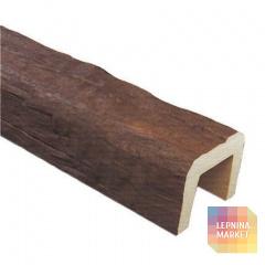 Декоративная балка Рустик (дуб темный) 190*170*3000