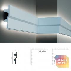 Полиуретановый молдинг-карниз под подсветку Tesori KF 709