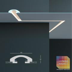 Tesori KD 113 - встраиваемый потолочный молдинг для подсветки